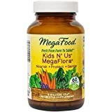 MegaFood - Kids N' Us MegaFlora, Probiotic Support for Digestion, Bowel Regularity, Intestinal Balance, and Immune Health, 5 Billion CFU, Vegetarian, Gluten-Free, Non-GMO, 60 Count