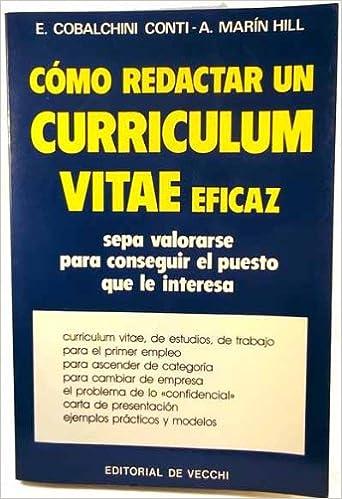 Amazon Com Como Redactar Un Curriculum Vitae Eficaz Spanish