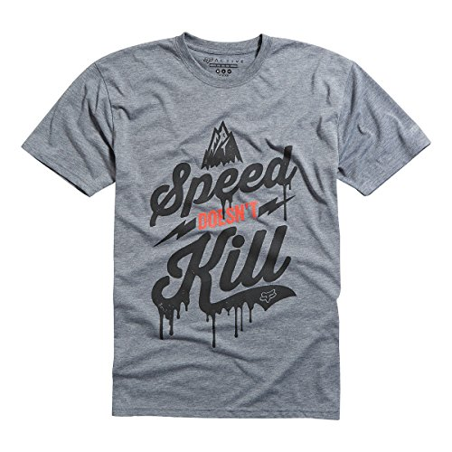 Fox Head Men's Speed Wobble Tech Tee, Heather Graphite, Small