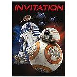 Unique 59424 Star Wars Party Invitations, 8-Count