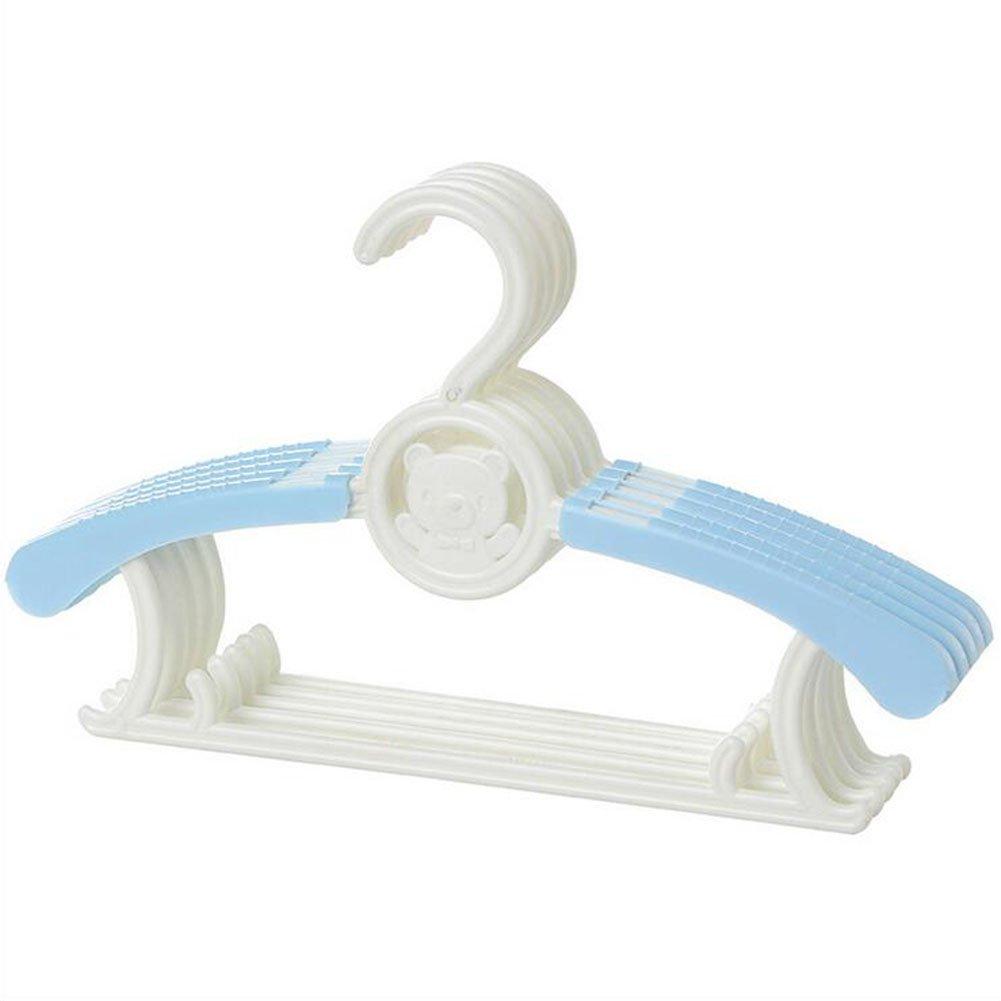 28cm) Hangers Plastic Retractable Hanger Non-Slip Coat Hangers Wet And Dry Dual Plastic Hangers Adults And Children Wardrobe Hangers (17.5 color : Blue
