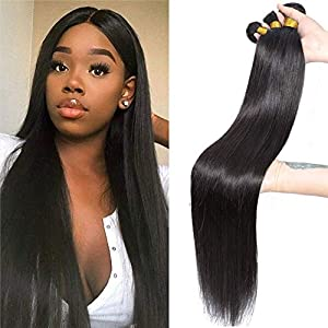 NEWNESS Malaysian Straight Hair Long Length Virgin Human Hair 6 Bundles 30 32 34 36 38 40 Inch 10A Unprocessed Virgin…