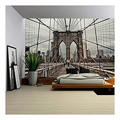 Brooklyn Bridge and Cable Pattern - Wall Murals