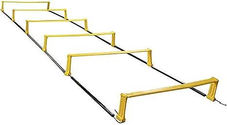 QinnLiuu Escalera de Agilidad de Doble propósito, Juego de Escalera de Agilidad, Escalera de Entrenamiento de Velocidad Peldaños Ajustables, Fútbol, Entrenamiento Deportivo: Amazon.es: Deportes y aire libre