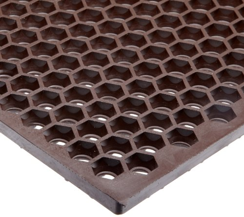 Mats Heavy Rubber Nitrile Duty (NoTrax T15 Heavy Duty Nitrile Rubber Optimat Safety/Anti-Fatigue Mat, for Wet or Greasy Areas, 3' Width x 2' Length x 1/2