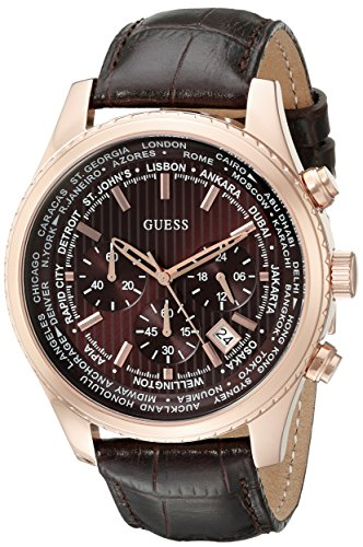 GUESS Men's U0500G3 Luscious Brown Chronograph Watch with Date Function