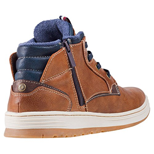 Zip chukka Mustang Sneaker Hommes Side Kastanie Bottes xxYwfS