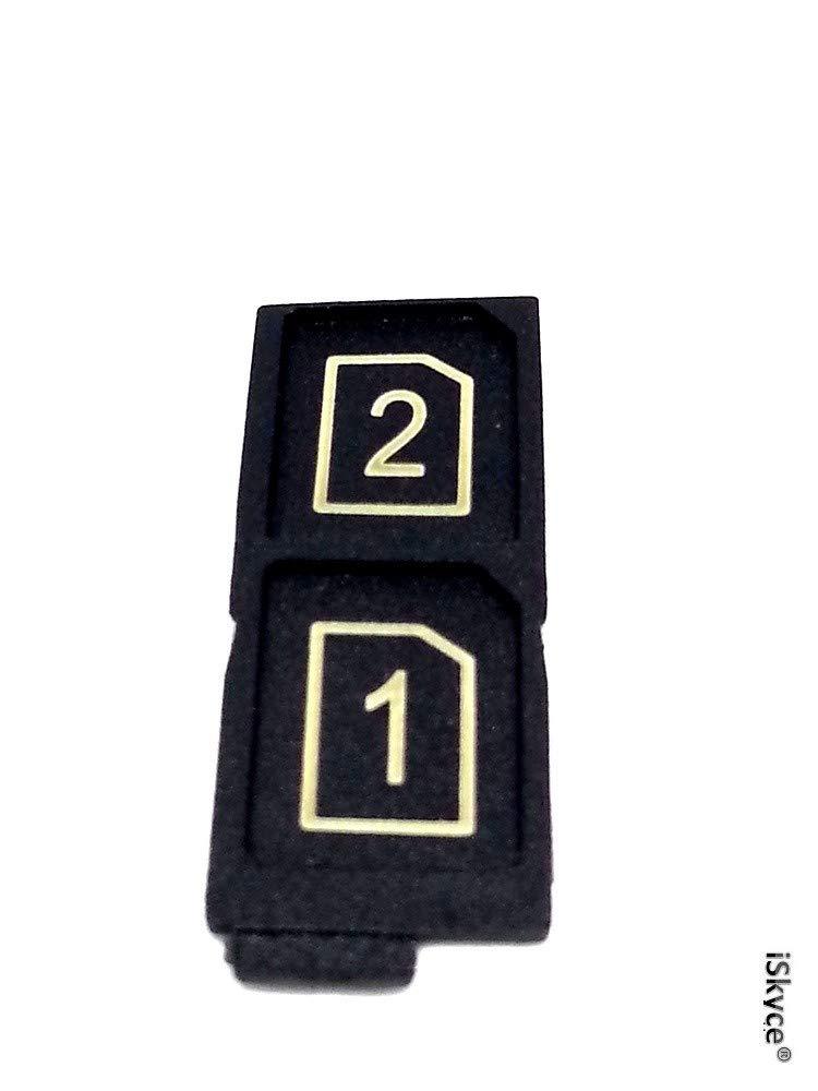 iSkyce pour Sony Xpéria Z5 Double Dual Tiroir Carte Double SIM et SD Card Noir D6633, Réparez Votre