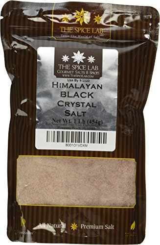 The Spice Lab Himalayan Black Crystal Salt - Kala Namak Mineral - Fine Ground - 16 Oz