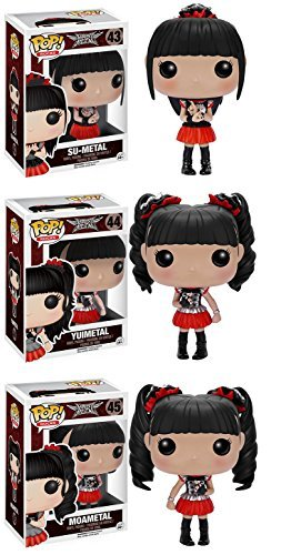 POP! Rocks: Babymetal Su-Metal Yuimetal Moametal! Vinyl Figure! Set of 3 by Babymetal