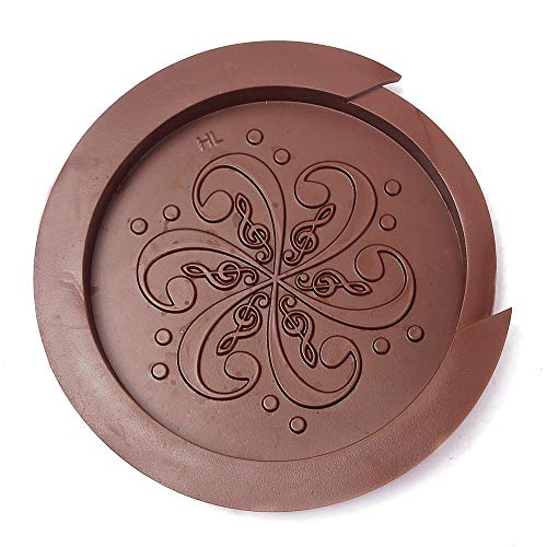 Screeching Halt Soundhole - Guitar Hole Cover, Wllsagl Xouwvpm Guitar Acoustic Sound Hole Cover Halt Feedback Buster Prevention Rubber 41 Inches (Brown)