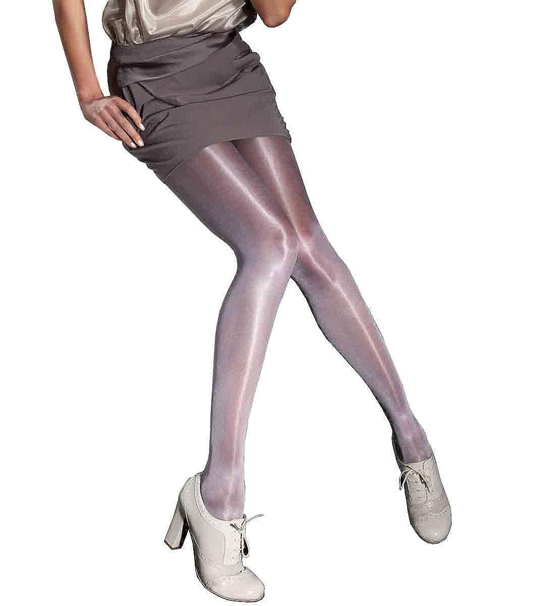 84ea8c3e55e Amazon.com  Raula 40 Denier Shiny Satin Glossy Tights  Clothing