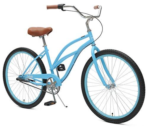 Critical Cycles 2346 Women's 3-Speed Chatham-3  Beach Cruiser Bike, 26-Inch, Sky Blue