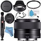 Sony E 35mm f/1.8 OSS Lens SEL35F18 + 49mm UV Filter + Lens Pen Cleaner + Fibercloth + Lens Capkeeper + Deluxe Cleaning Kit Bundle