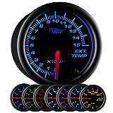 GlowShift Black 7 Color 1500 F Pyrometer EGT Gauge