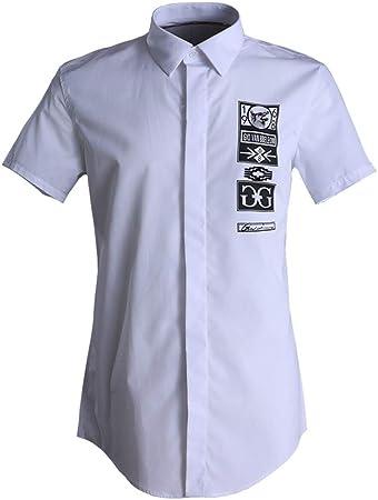 Camisas de vestir para hombre Camisa casual para hombre de verano, camisas de manga corta, camisa de vestir con botones de trabajo, para niños adolescentes, camisa de algodón sólido, camisas de fiesta: