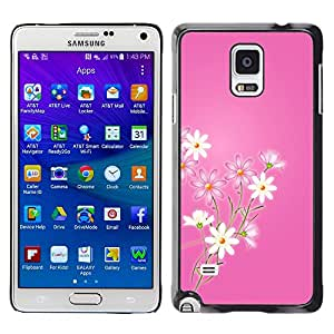 - Sun Flower Flowering Rose - - Fashion Dream Catcher Design Hard Plastic Protective Case Cover FOR Samsung Galaxy Note 4 Retro Candy