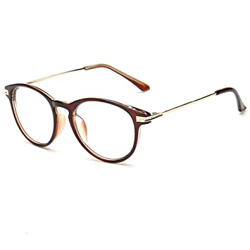 77004ab38f81 Fashion Design Mens and Womens Use Frame Longsighted Spectacles +4.00  lenses Brown Reading Glasses Round