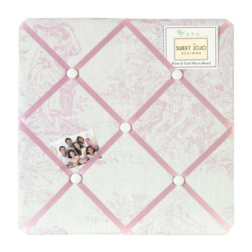 Pink French Toile Fabric Memory/Memo Photo Bulletin Board by Sweet Jojo Designs