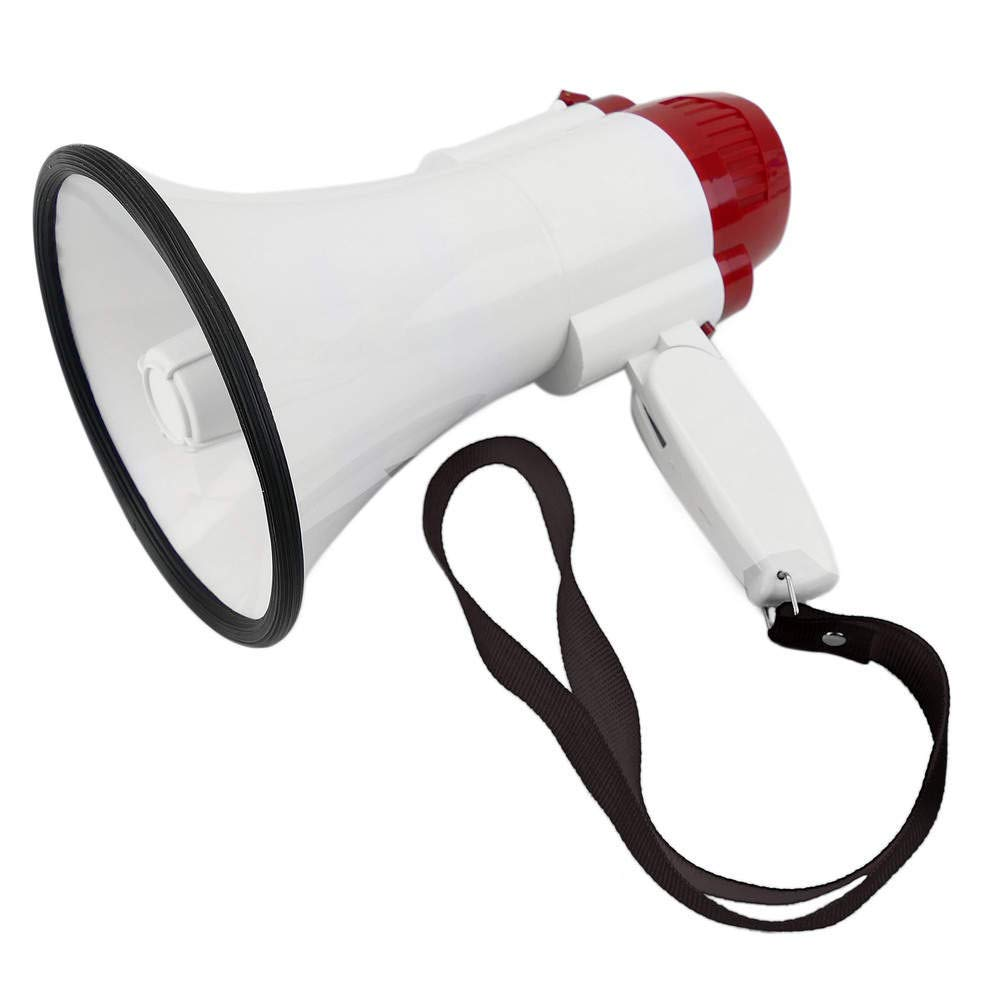 150x250mm 10W megaphone with siren and 10s recording Cablematic.com PN11091510010127340