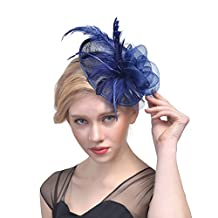 Feathers flowers net Hair Clip Pillbox Hat bride headdress fashion headdress