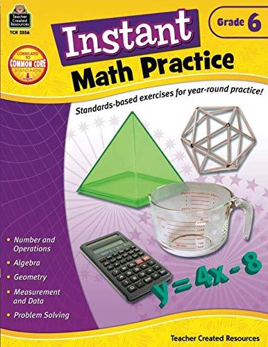 - Instant Math Practice, Grade 6