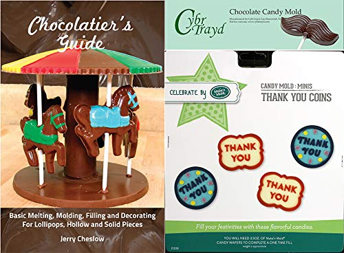 Cybrtrayd Make'n Mold MNM0306 Thank You Coins Chocolate Candy Mold with Chocolatier's Guide, Regular, Clear