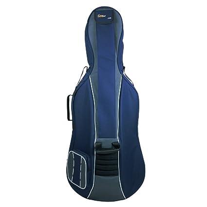 Tomandwill Classic - Funda para violonchelo 3/4, color azul marino y gris