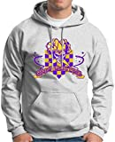 Mardi Gras 2015 Premium Hoodie Sweatshirt Large Ash
