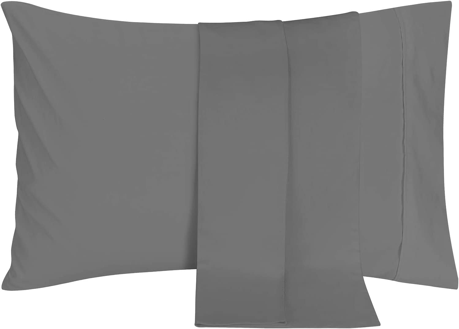 Utopia Bedding Brushed Microfiber Pillowcases – 20 by 40 inches Pillow Covers (Pack of 2, King, Grey)