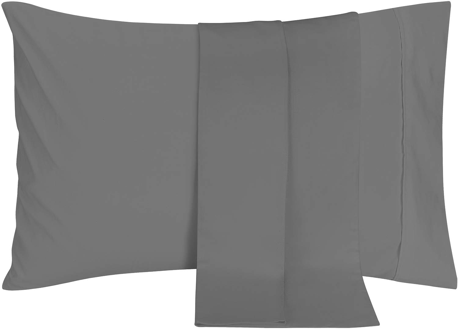 Utopia Bedding Pillowcases 2 Pack – (Queen, Grey) - Brushed Microfiber Pillow Covers