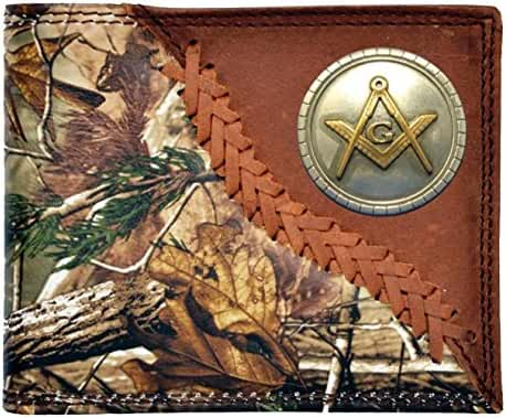 Custom New Badger Masonic Square and Compasses Long Realtree AP Camo Wallet