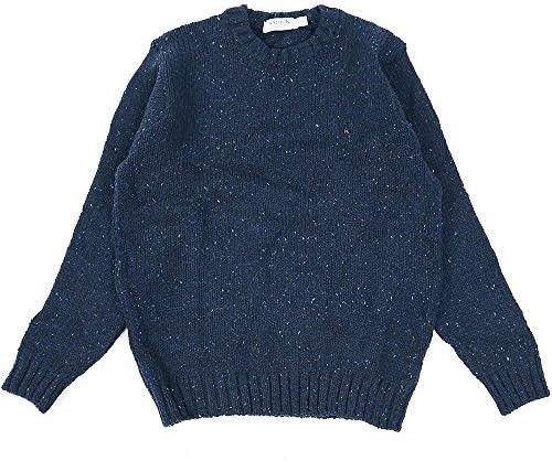 [ラスリン・ニットウェア] RATHLIN KNITWEAR アイルランド製 ドネガル クルーネック セーター メンズ