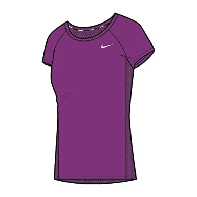 separation shoes b11f9 54c82 Image Unavailable. Image not available for. Color  NIKE Dry Miler Short  Sleeve Running Top ...