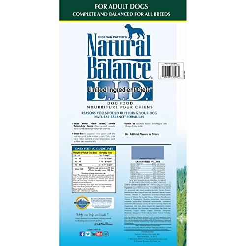 Natural Balance L I D Limited Ingredient Diets Dry Dog