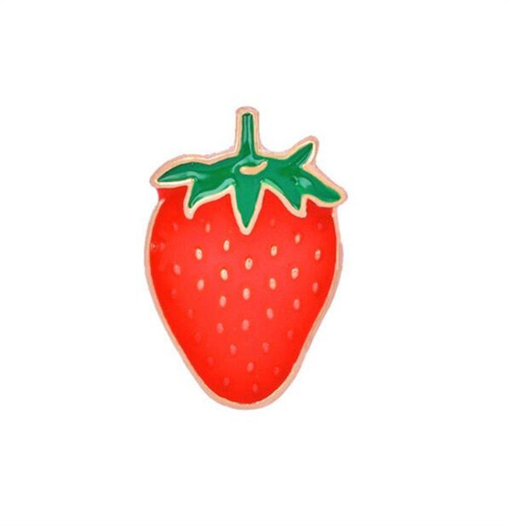【高い素材】 Yingealy ファッション キーリング キーホルダー 絶妙なフルーツ ブローチ ストロベリー ブローチ (赤色) バッジ ボタン ボタン バジー (赤色) B07GCY2SHL, 天塩郡:2c460759 --- mcrisartesanato.com.br