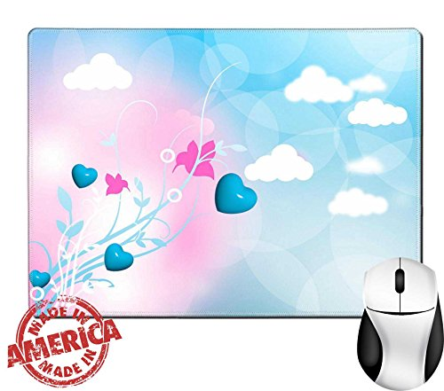 "Luxlady Natural Rubber Mouse Pad/Mat with Stitched Edges 9.8"" x 7.9"" IMAGE ID: 29659797 fantasy land - Day Valentinea Ideas"
