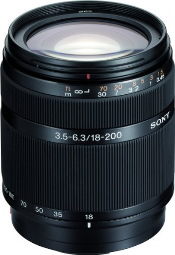 Sony DT 18-200mm f/3.5-6.3 Aspherical ED High Magnification Zoom Lens for Sony Alpha Digital SLR Camera by Sony