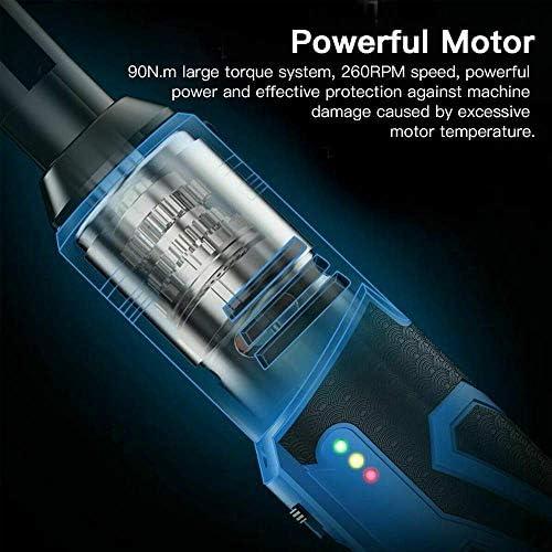 Coût MxZas Elektrischer Ratschenschluuml; ssel, rechtwinklig, 3/8 Vierkantkopf 42 V, 100 Nm, mit 2 Batterien, LED-Leuchten fuuml; Matrice de r Autoreparatur, Mechanische Wartung Jzx-n  DScgi
