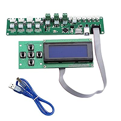 D DOLITY Melzi 2.0 1284P Control Mainboard P802M PCB Board with 5-key 2004 LCD Screen