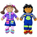 Excellerations Boy and Girl Dressing Dolls - Set of 2 (Item # Duo)
