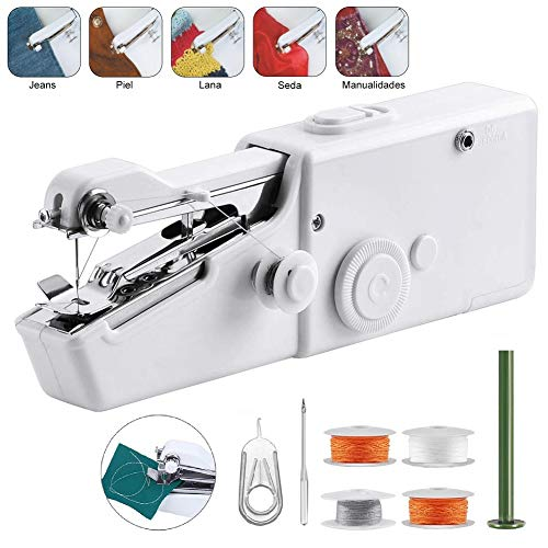 Handheld Sewing Machine, Mini Portable Cordless Electric Sewing Machine Household Tool – Quick Stitch Tool for Fabric, Clothing, Home Travel Use
