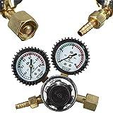 Flow Meters   Gauges Pressure Reducer Flow Meter Welding Regulator Control Valve Dual Gauge for MIG Welding/Beer Brewing   by NAHASU