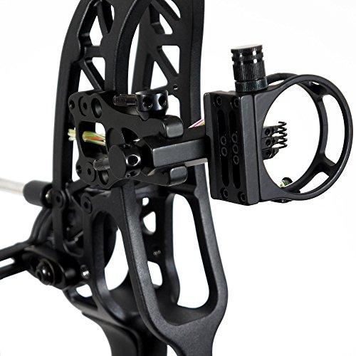"LIVABIT [Upgraded Set Archery Ambidextrous Lightweight Bow Let-Off 34"" Axle Axle Black"
