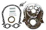 454 timing chain - Racer Performance Chevy Big Block 396-402-427-454 Steel Timing Chain Cover Set w/ Timing Tab - Chrome