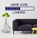 Large Vinyl Decal Game Zone Computer Gaming Decor Loading Video Game Wall Stickers (ig2747) Orange