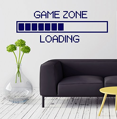 Large Vinyl Decal Game Zone Computer Gaming Decor Loading Video Game Wall Stickers (ig2747) Orange by Wallstickers4you