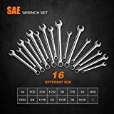 TACKLIFE 32PCS Combination Wrench Set Metric and