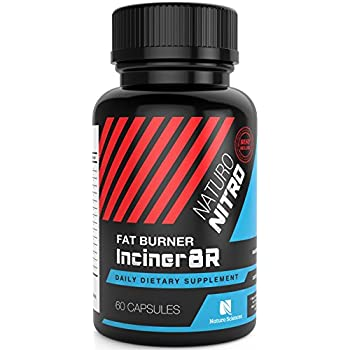 Inciner8R Fat Burning Supplement with Capsimax™ by Naturo Nitro - Designed for Weight Loss and Mental Focus - A Single, Pre-breakfast Capsule for Serious Day-long Appetite and Weight Control - 60ct.