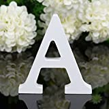 Peyan Small 3D Height 8cm Wooden Alphabet Letters Plaque Wall Home Office Wedding Party Decoration